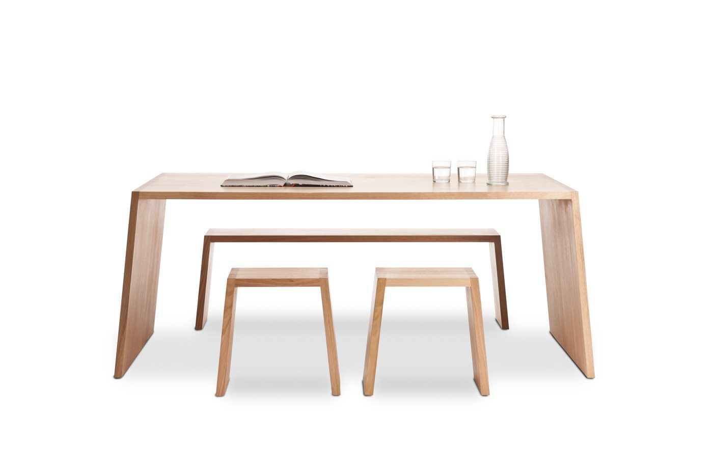 Product photography of timber table